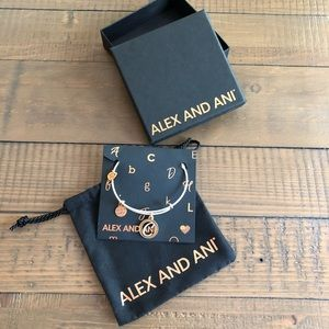 "Brand new Alex and Ani ""C"" charm bracelet"